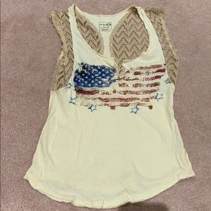 Free People American flag tank